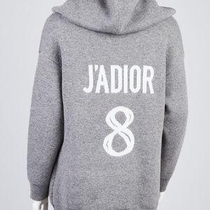 PRELOVED **J'Adior Dior #8 Cashmere Hooded Sweater
